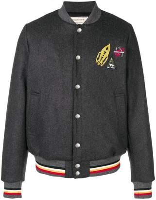 MAISON KITSUNÉ triple logo patch bomber jacket