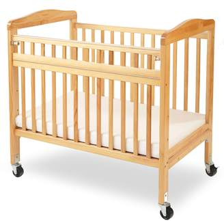 L.A. Baby Compact Non-folding Wooden Window Crib with Safety Gate