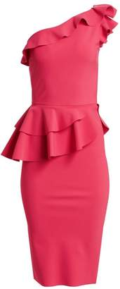 Chiara Boni Jiva Asymmetric Ruffle Bodycon Dress