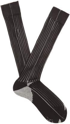 Prada Striped ribbed-knit socks