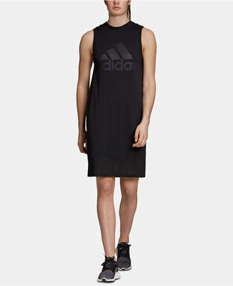 adidas Id Mesh-Overlay Sleeveless Dress