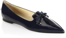 Jimmy Choo Genna Patent Leather Point-Toe Flats $495 thestylecure.com