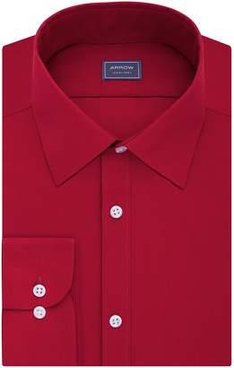 Arrow Men's Slim-Fit Poplin Wrinkle-Free Dress Shirt