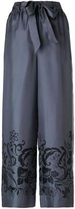 Incotex flared printed trousers