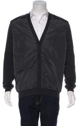 Prada Sport Wool V-Neck Cardigan