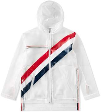 Thom Browne Diagonal Stripe Transluscent Windrunner