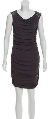 Jay Ahr Draped Embellished Dress w/ Tags