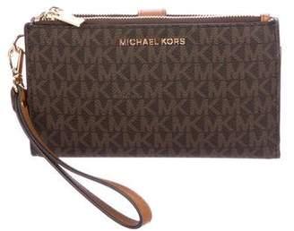 Michael Kors Monogram Wristlet Wallet