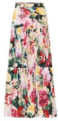 Dolce & Gabbana Floral-printed cotton maxi skirt