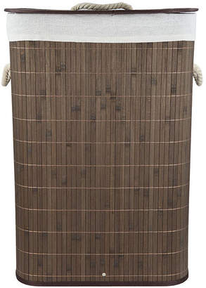 Home Basics Rectangular Bamboo Hamper