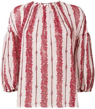 Giambattista Valli front striped loose blouse