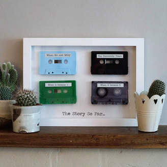 MixPixie Personalised Framed 3D Mix Tapes