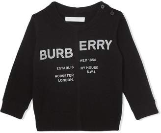 Burberry Horseferry Print Cashmere Sweater