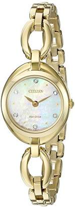 Citizen Women's Eco-Drive Stainless Steel Crystal Accented Watch