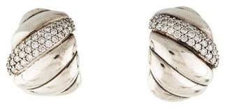 David Yurman Diamond Sculpted Cable Earclips