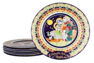 Rosenthal Set of 7 Bjorn Wiinblad Christmas Wall Plates