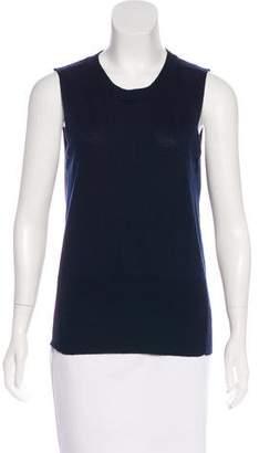 Frame Wool & Cashmere-Blend Sleeveless Sweater