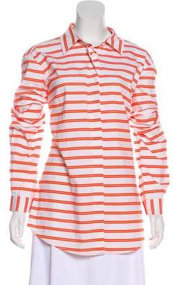 Samantha Sung Striped Button-Up Top