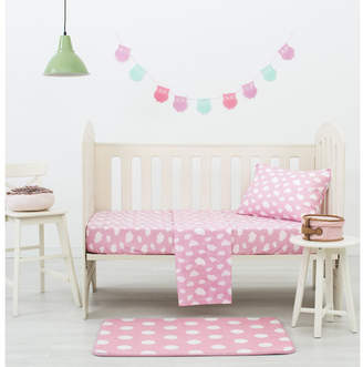 Pink Clouds Dreamaker Baby Poly/Cotton Cloud Printed Cot Sheet Set