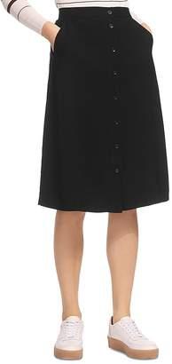 Whistles Toren Button-Front Skirt