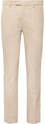 Privee SALLE Beige Gehry Slim-Fit Cotton And Linen-Blend Suit Trousers