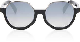 Emilio Pucci Sunglasses Contrast Frame Round Acetate Sunglasses