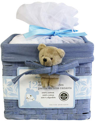PICCOLO BAMBINO 12 Pack Washcloths in Basket
