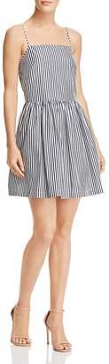 French Connection Sardinia Striped Cotton Mini Dress
