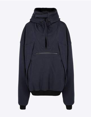 Maison Margiela Oversized Decollete Hooded Sweatshirt