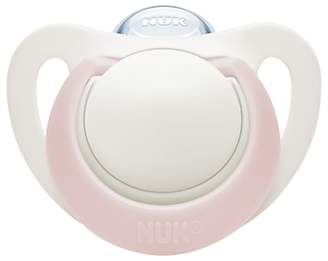 NUK Genius Size 1 Silicone Soother, 0-6 months, Pack of 2, Pink