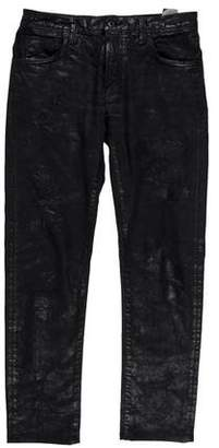 Mastercraft Union Wax-Coated Slim Tapered Jeans