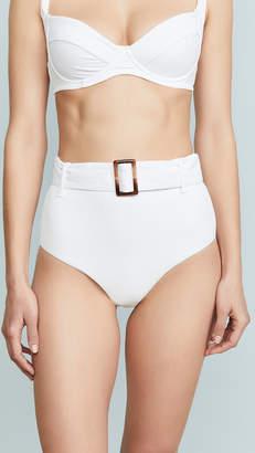 Charlie Holiday Expedition Rib High Waist Bikini Bottoms