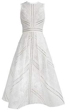 Elie Saab Women's Sleeveless Lace Cocktail Dress
