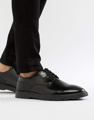 Silver Street High Shine Derby Shoes in Black