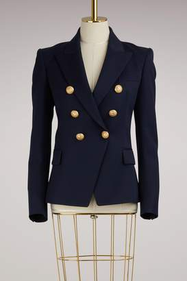 Balmain Six-Button Wool Blazer