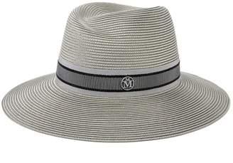Maison Michel grey straw virginie hat