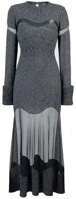 Alexander McQueen sheer panel gown