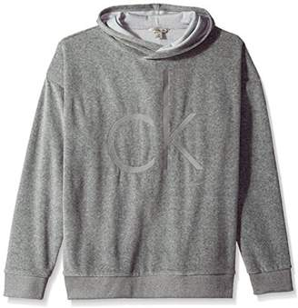 Calvin Klein Jeans Men's Oversized Cocoon Velour Crossover Hoodie