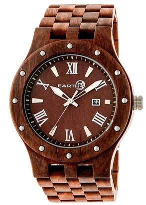 Earth Wood Inyo Eco-Friendly Sustainable Wood Quartz Bracelet Watch, 46mm