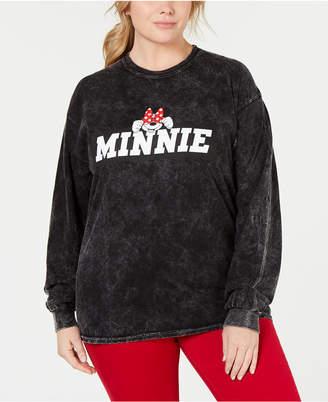 Disney By Love Tribe Plus Size Shy Minnie Graphic Sweatshirt