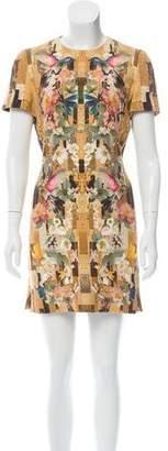 Alexander McQueen Hummingbird Mini Dress
