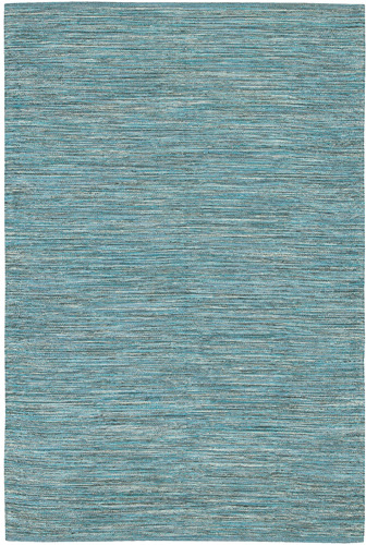 India Cotton Rug in Seaside Blue