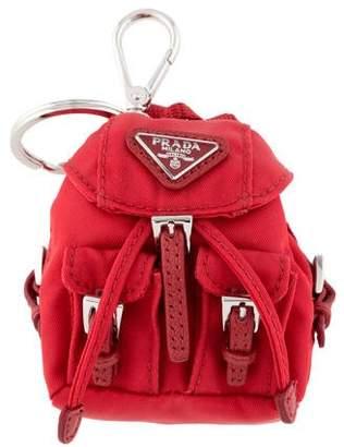 Prada Tessuto Backpack Keychain