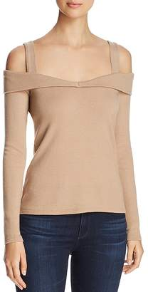 Three Dots Brushed Cold-Shoulder Sweater