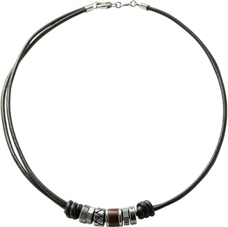 Fossil Vintage Rondel Black Men's Necklace