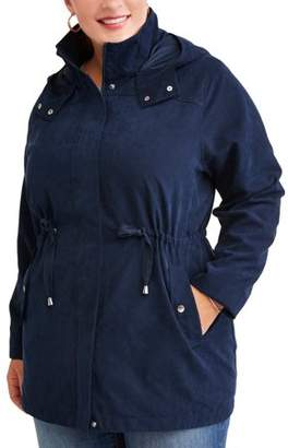 6990ff9d933 at Walmart.com · Time and Tru Women s Plus-Size Hooded Anorak Utility Jacket