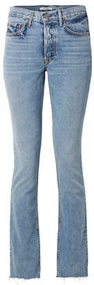 GRLFRND Addison High-rise Flared Jeans - Mid denim