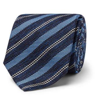 Ermenegildo Zegna 7cm Striped Silk-Jacquard Tie
