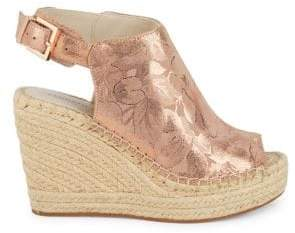Kenneth Cole New York Metallic Floral Wedges