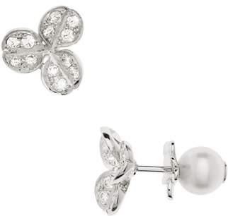 Mikimoto Pearl & Diamond Front/Back Earrings